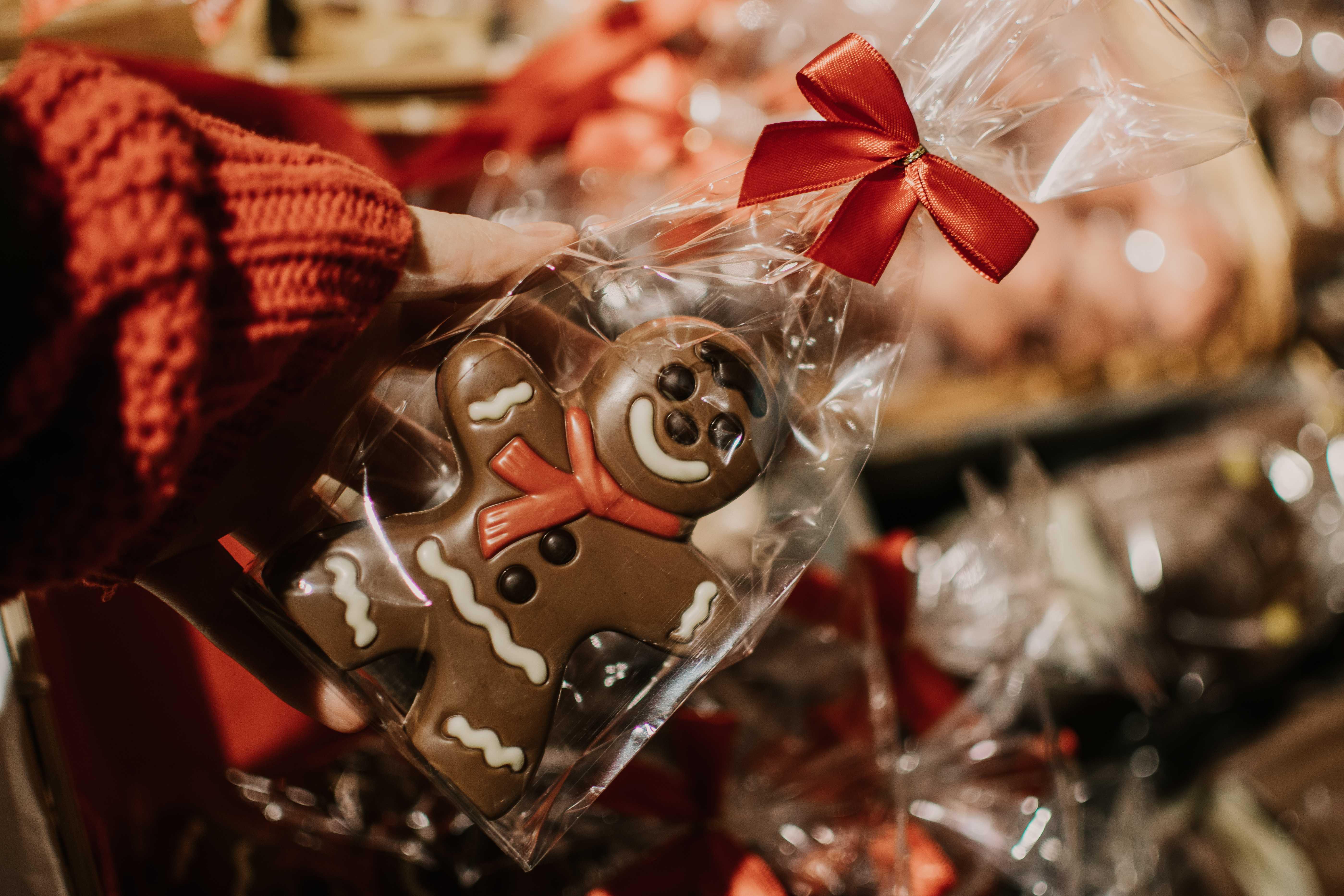 czekoladowe ozdoby świąteczne
