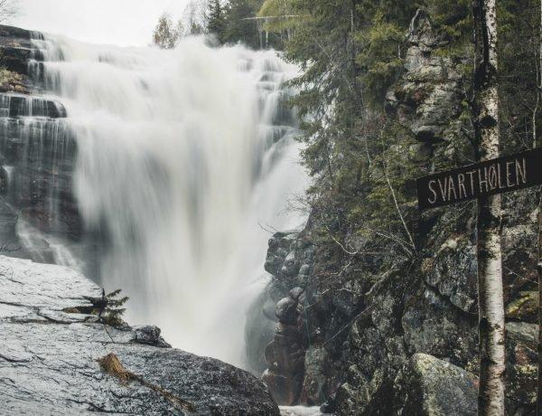wodospad w okolicach Oslo