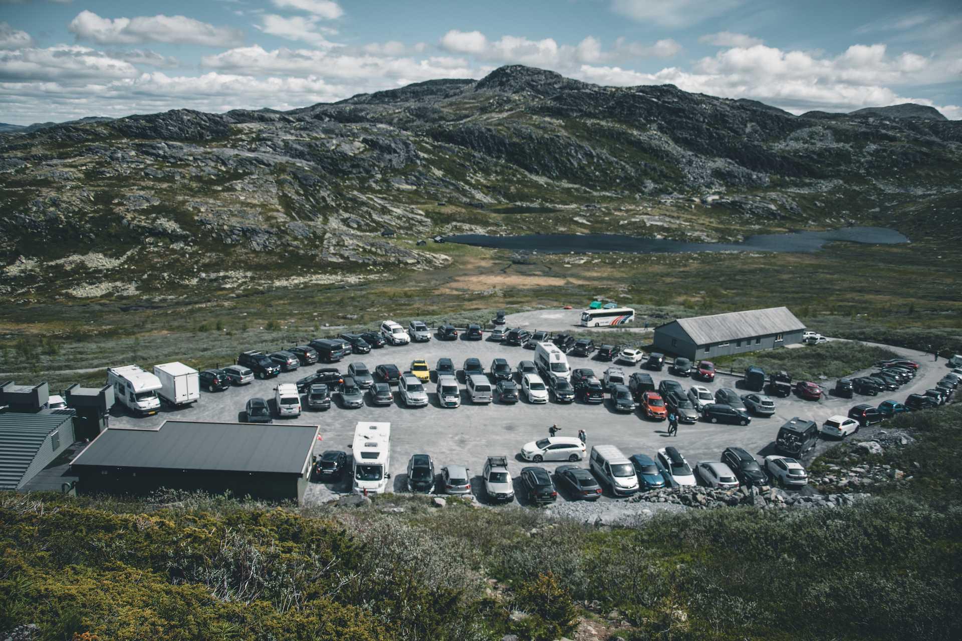 parking przy Gaustabanen