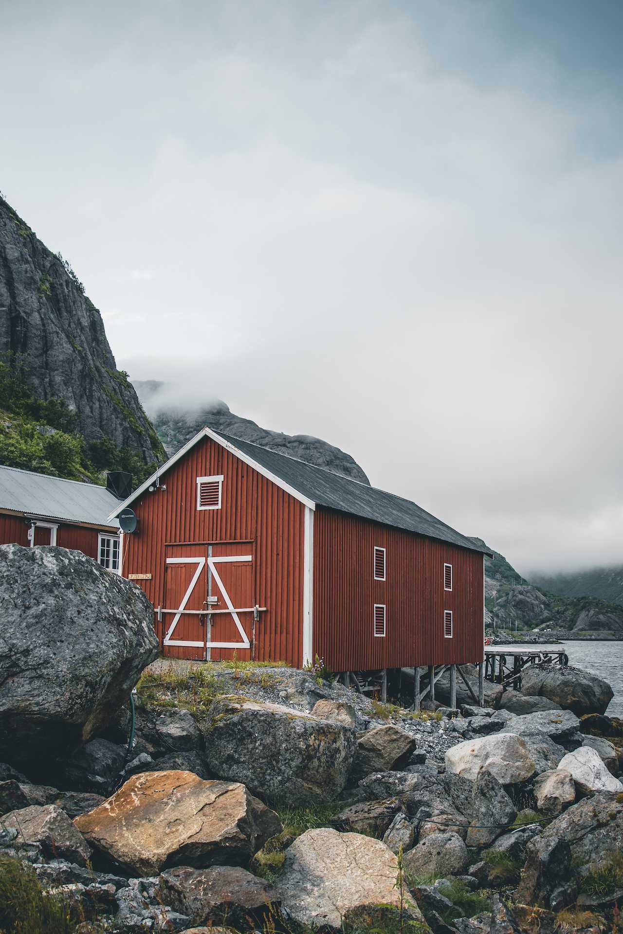Lofoty czerwone domki