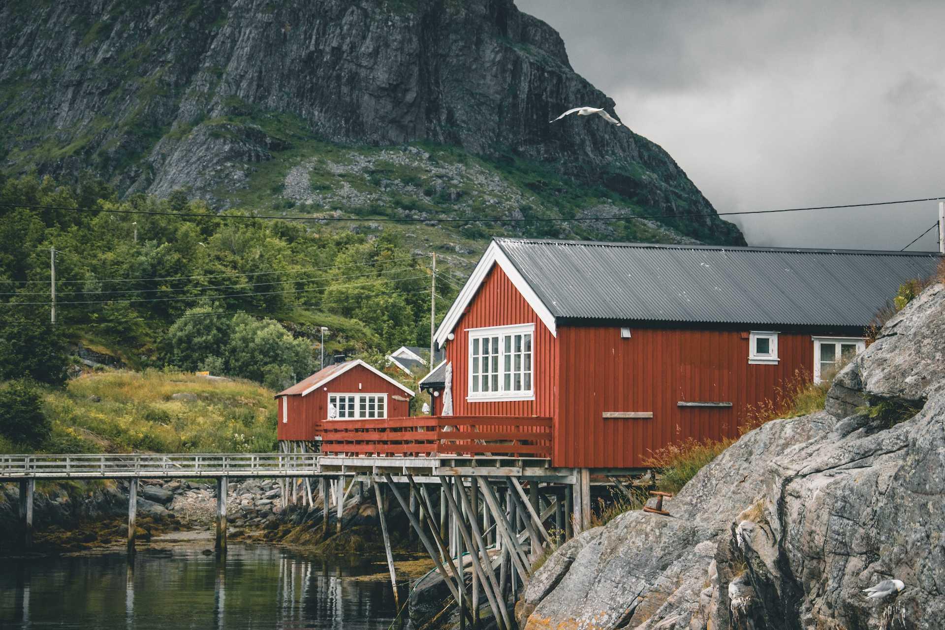 czerwone domki Lofoty