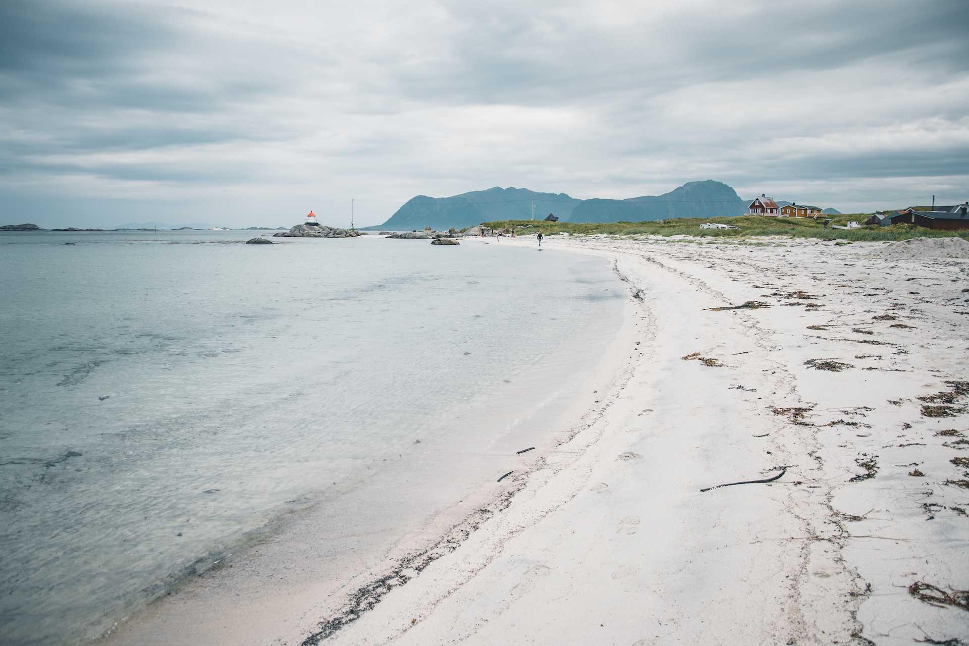 plaże ba Lofotach eggum