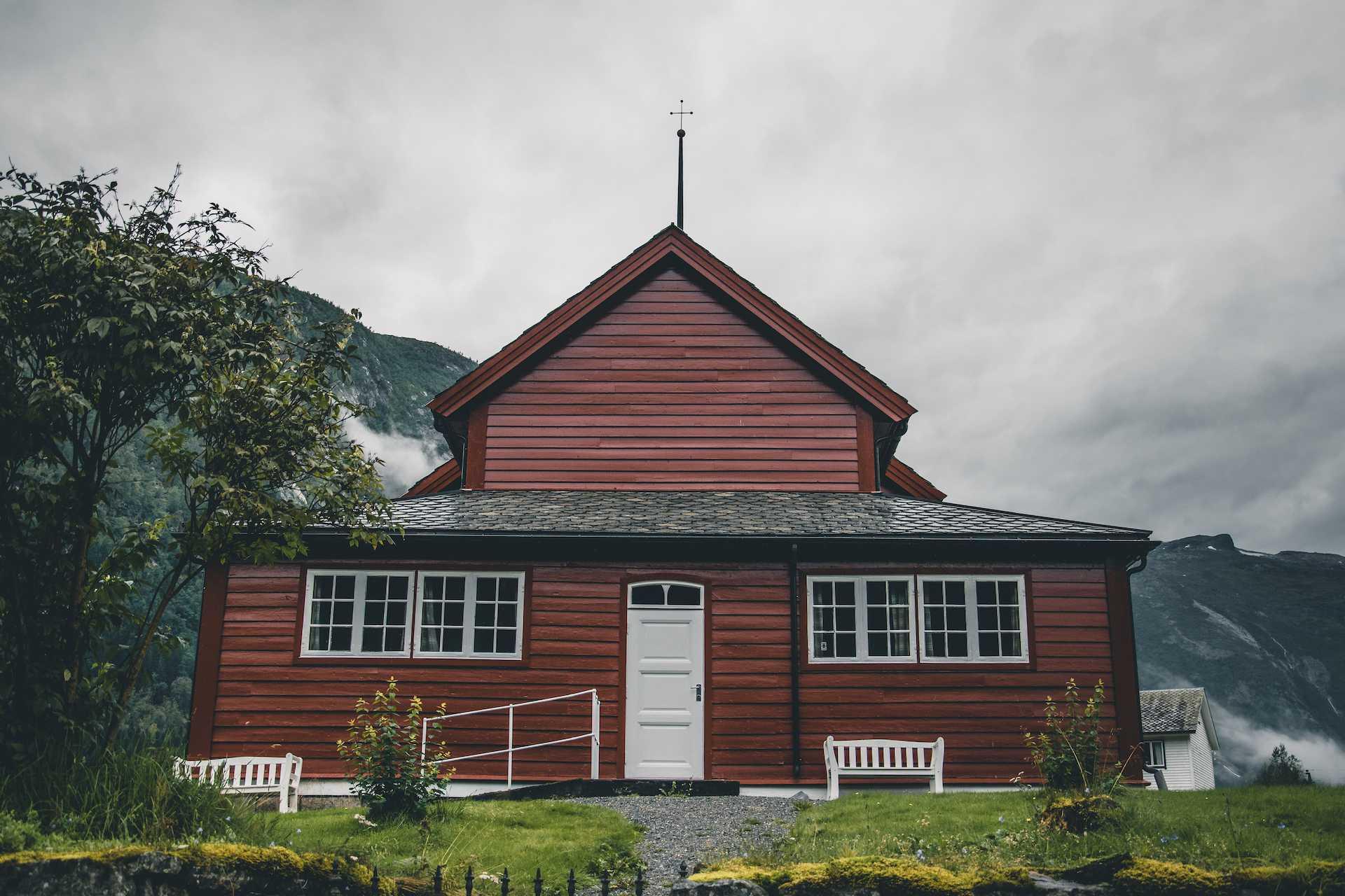 Fjærland kościół
