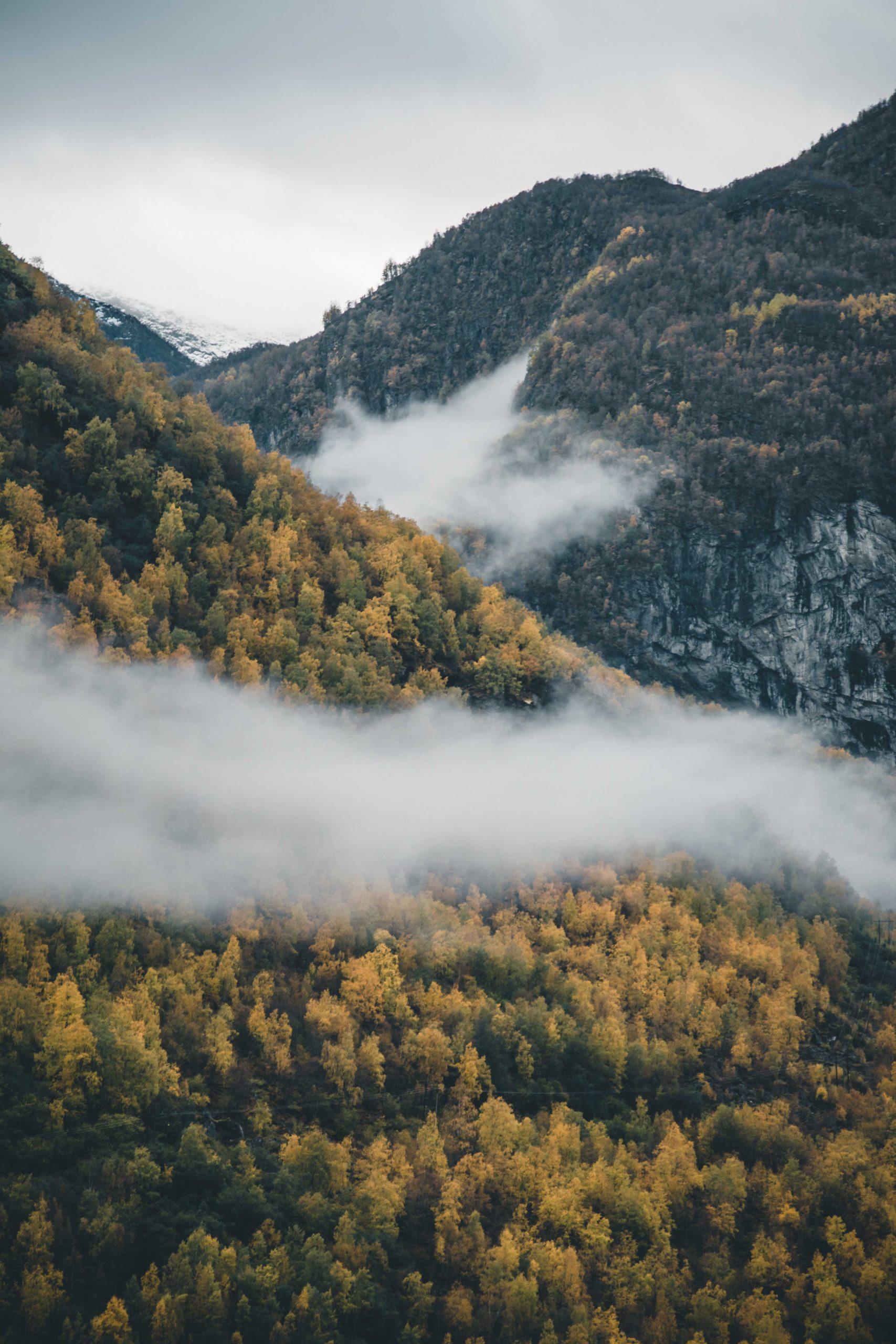 jesień nadfiordami