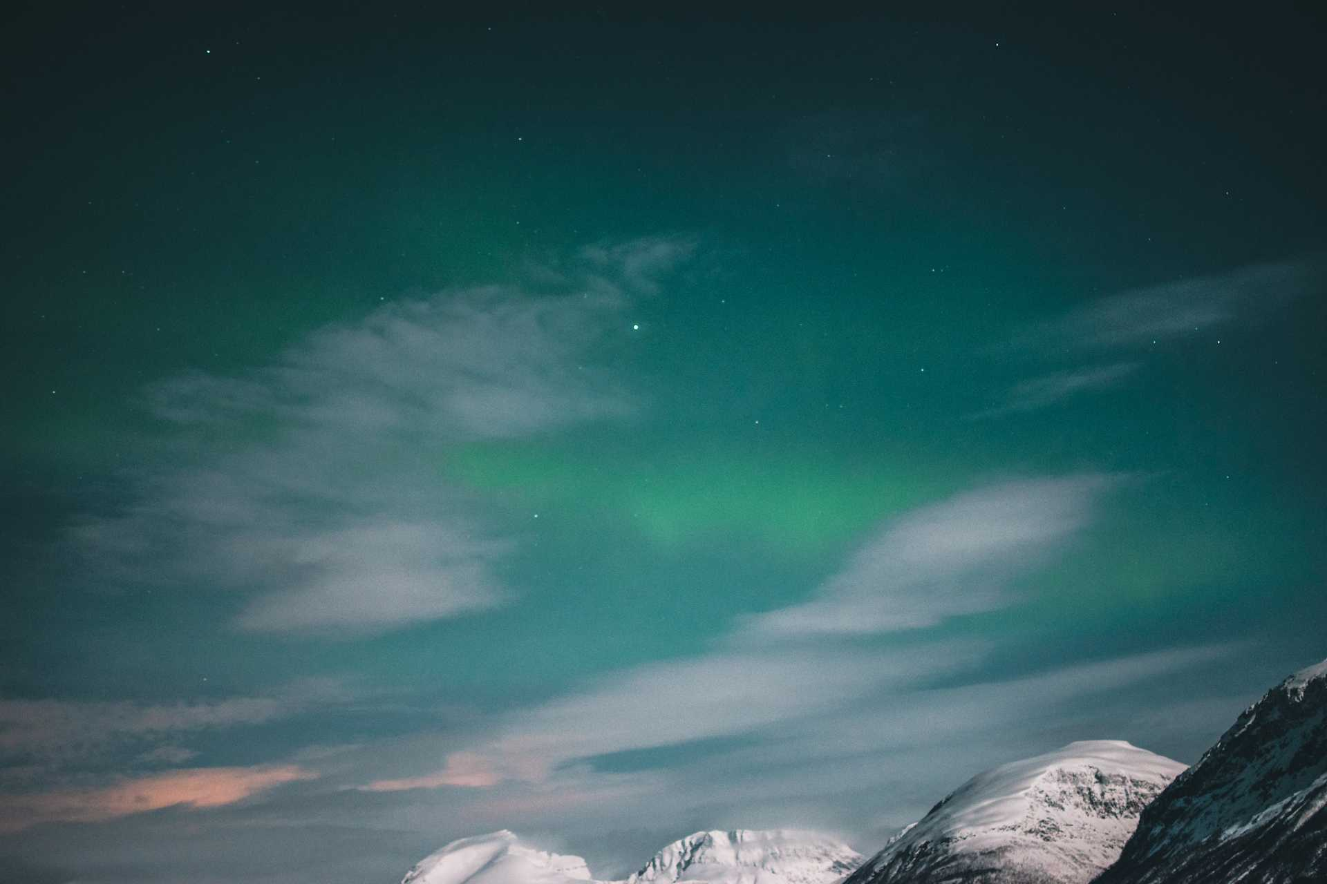 zorza wokolicach Tromso