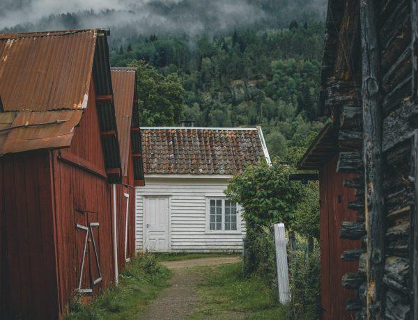 kolory domów w Norwegii