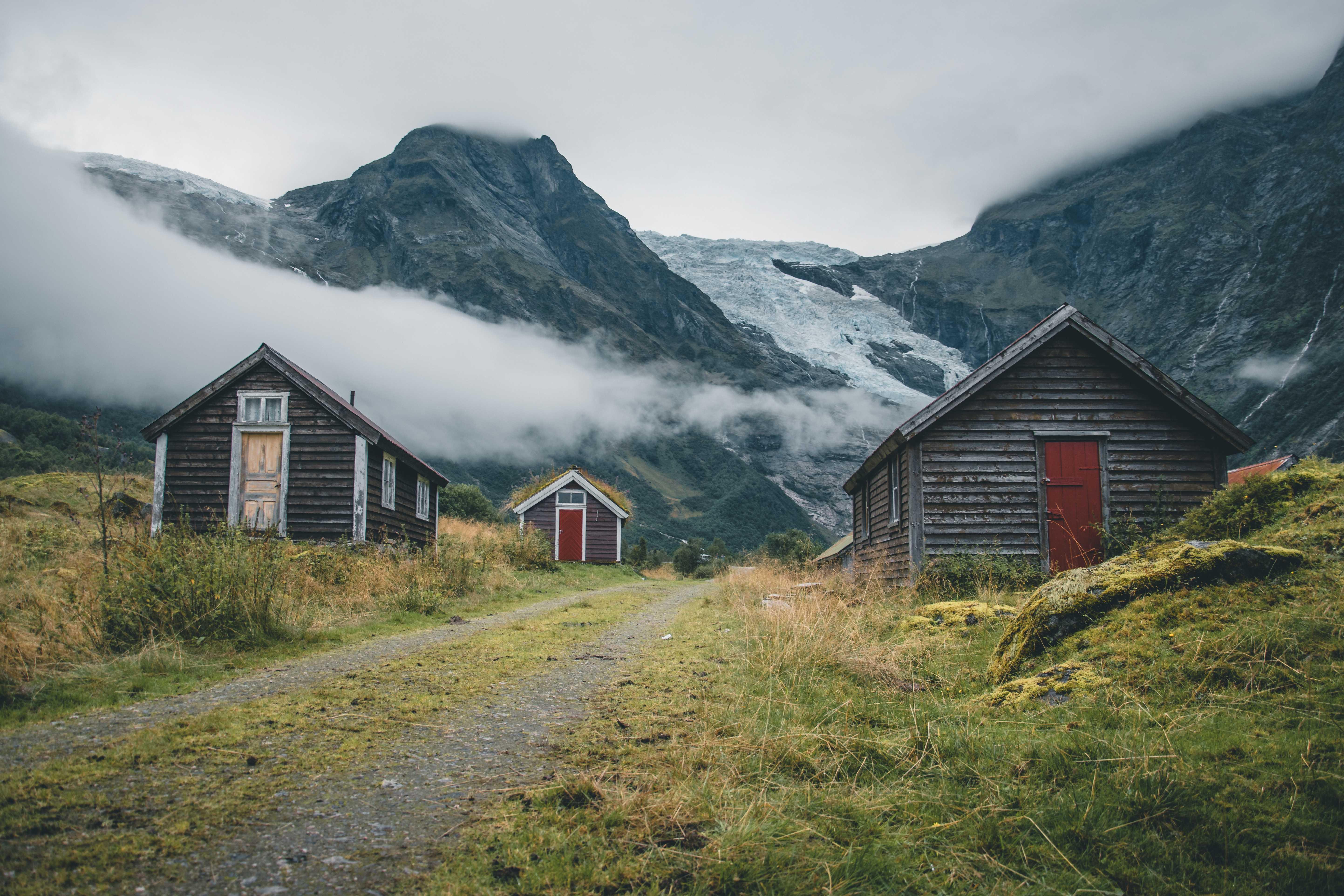 Kolory domów wNorwegii