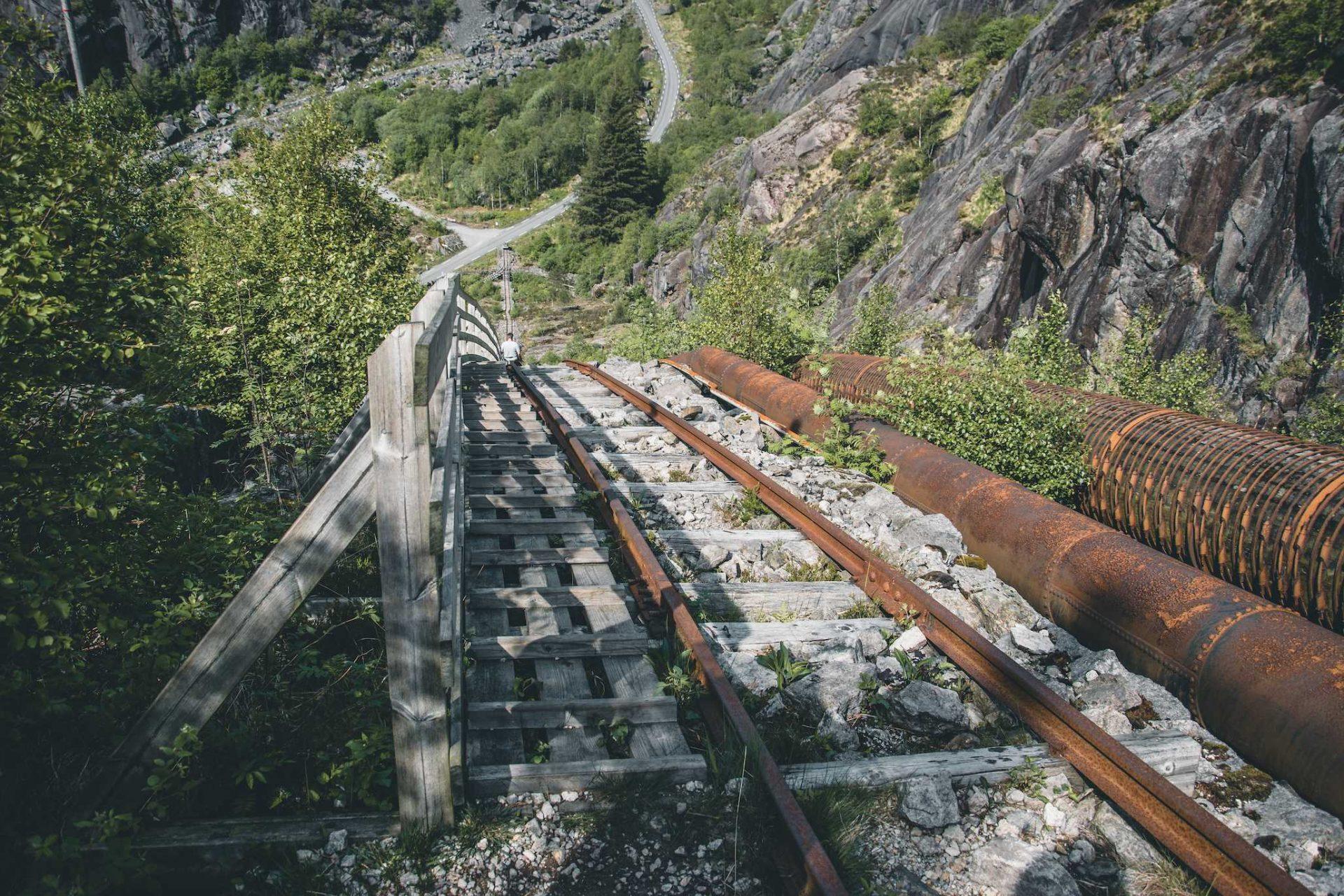 drewniane schody Norwegia