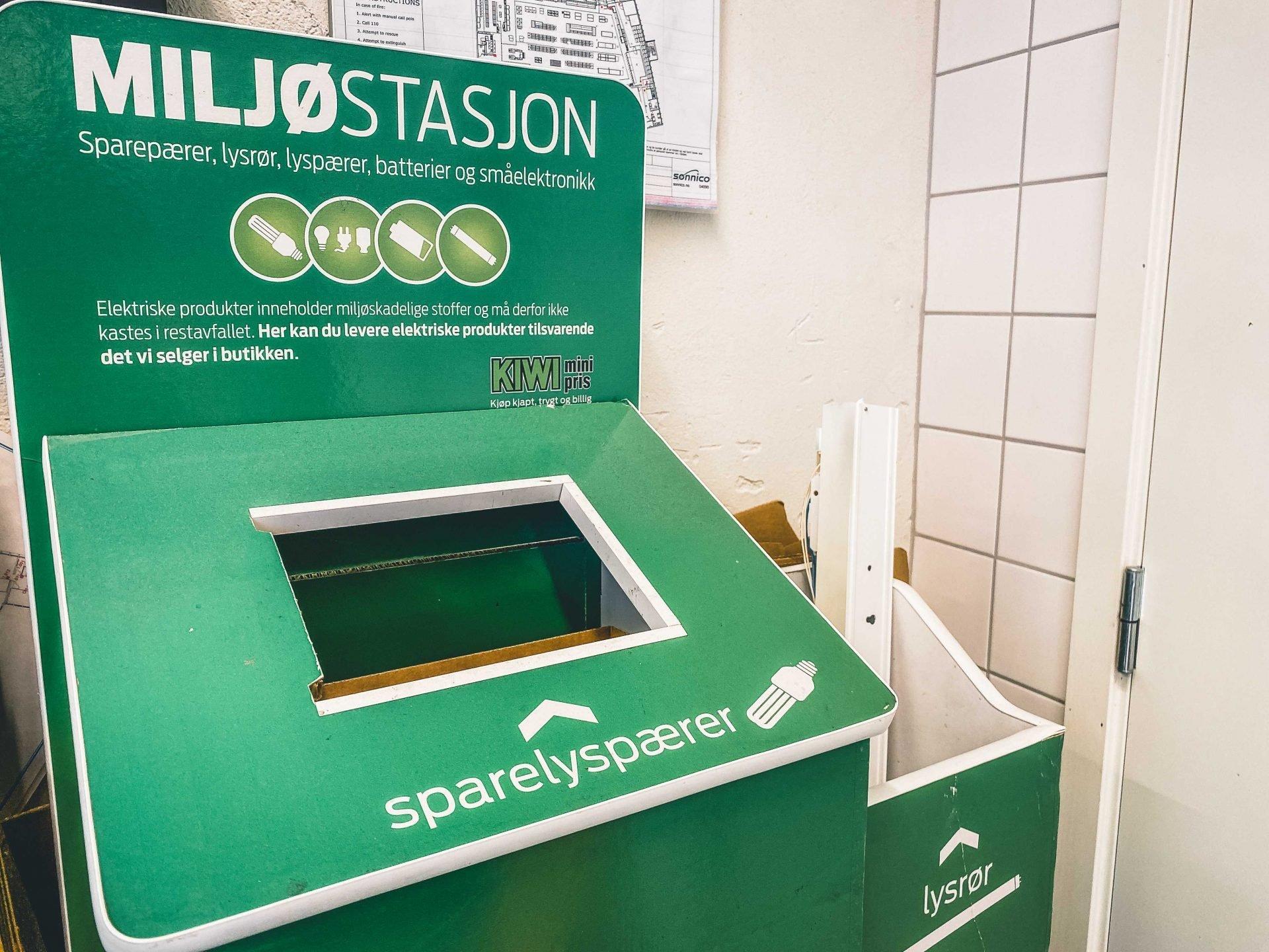 segregacja śmieci wNorwegii