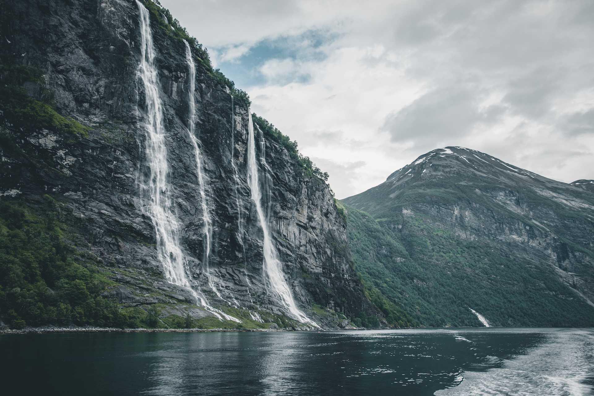 wodospady wNorwegii