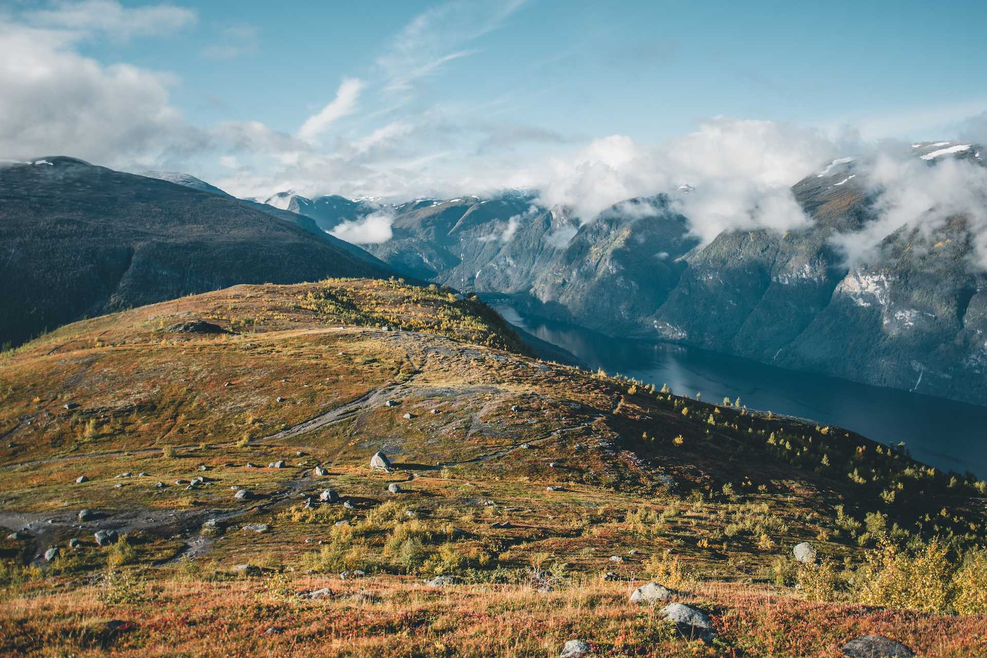 trekking Aurland