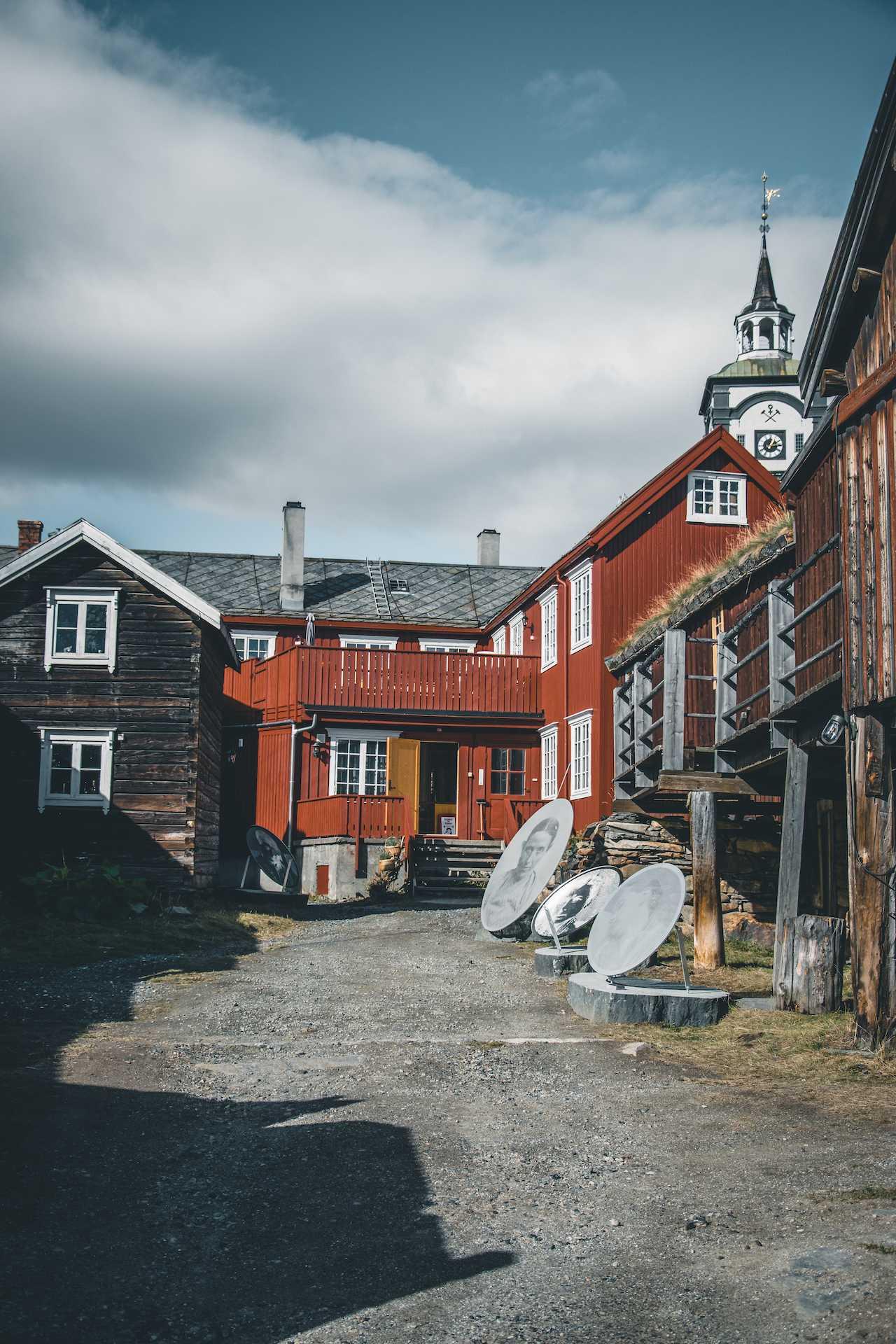 drewniane domy Norwegia
