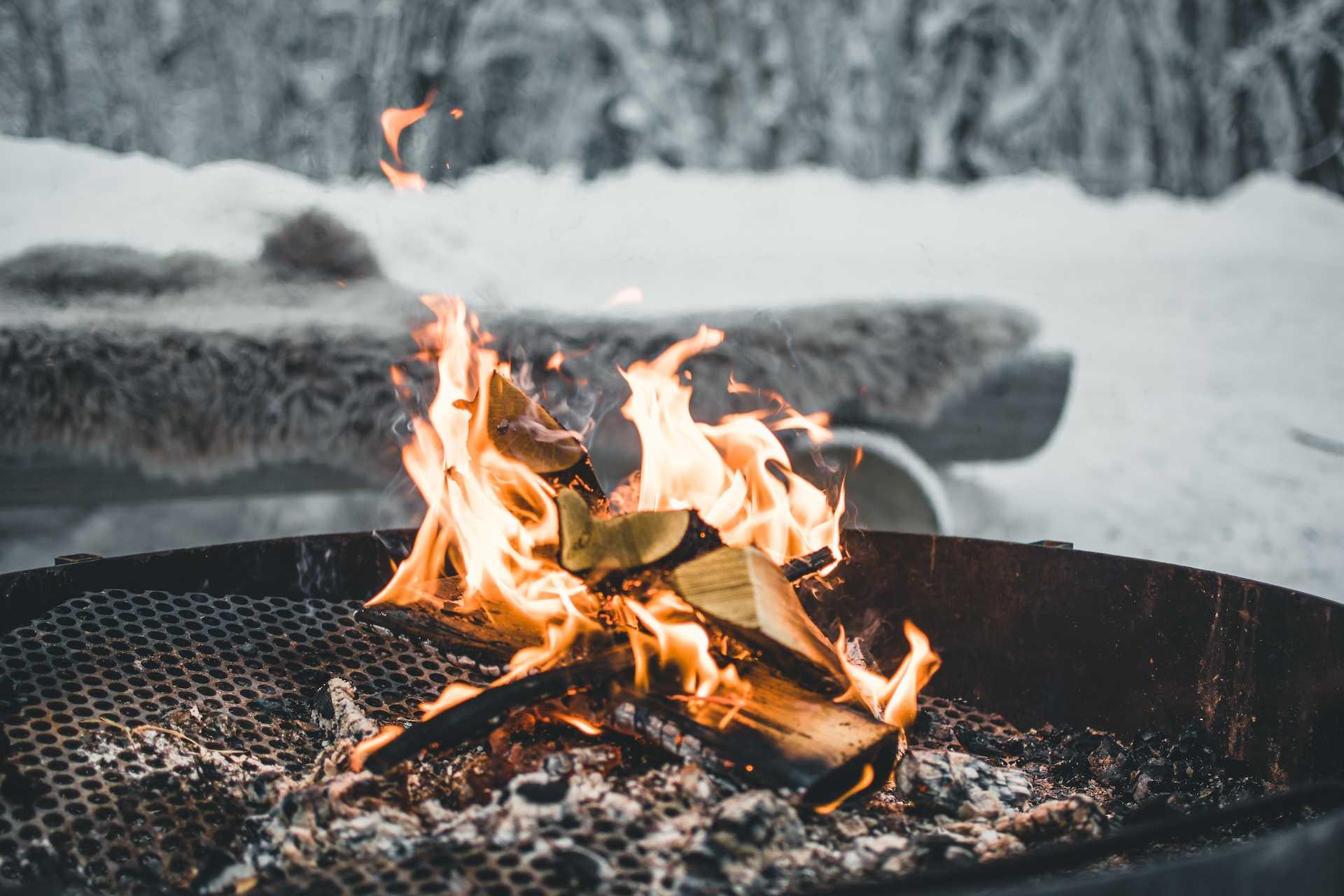 ognisko zima